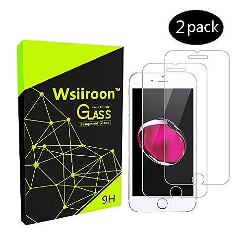 iPhone 7 Panzerglas Schutzfolie, Wsiiroon Displayschutzfolie 3D Touch Kompatibel-0.33mm für iPhone 7 (4.7