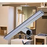 LED Spiegelleuchte / Klemmleuchte / Art.2380 / Chrom / warm weiß / 230 Volt / 10 Watt / 650lm / Schrankleuchte / Spiegelschrankbeleuchtung / Spiegelleuchte / Badleuchte