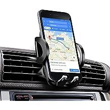 Soporte Movil Coche, Amotus Universal Soporte de Smartphone para Rejillas del Aire de Coche Kit para iPhone X 8 7 6 6S Plus 5 5s, Samsung Galaxy Note/Edge, LG Nexus, HTC, Smartphone y GPS Dispositivo