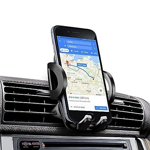 Support Téléphone Voiture, iAmotus Support Voiture Auto Universel Rotation à 360°Degrés Grille d