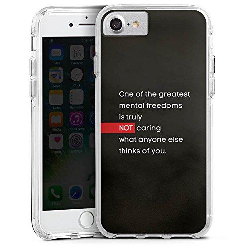 Apple iPhone X Bumper Hülle Bumper Case Glitzer Hülle Phrases Sprüche Sayings Bumper Case transparent