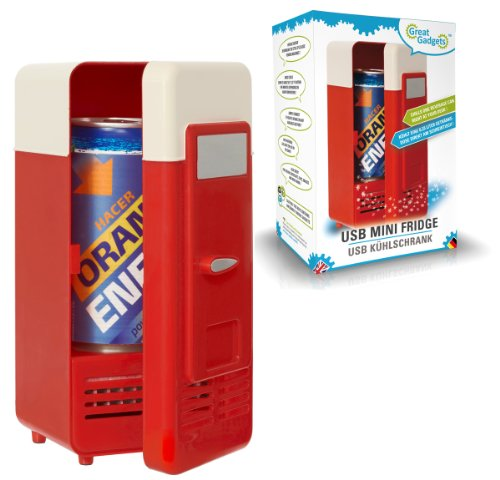 Greatgadgets 3072 usb mini frigo red red & beige
