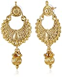 Donna Gold color Metal Dangle & Drop Ear...