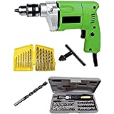 Generic SK1308 10 mm Drill Machine With Bits and Toolkit Color and Design May Vary, 41 Piece