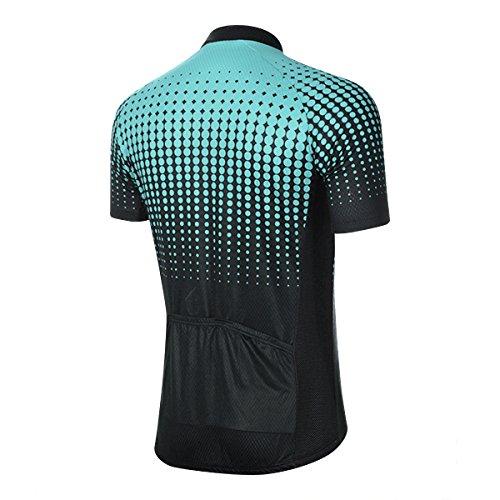 Unisex all'aperto ciclismo Jersey Bike breve MTB biciclette abbigliamento body traspirante traspirante estate-blu-L