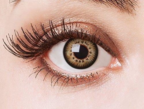 aricona Farblinsen - farbige Kontaktlinsen ohne Stärke – braune Circle Lenses, farbig bunte Augenlinsen, 12 Monatslinsen für Cosplay, Anime & Manga Big Eyes
