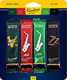 #7: Vandoren SRMIXA25 Alto Sax Jazz Reed Mix Card includes 1 each ZZ, V16, JAVA and JAVA Red Strength 2.5