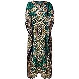 Classic Wear Indian Cottage Womens Casual Long Kaftan Dress Maxi One Size Women Caftan Dress Gown Top Night Dress 52 Inch