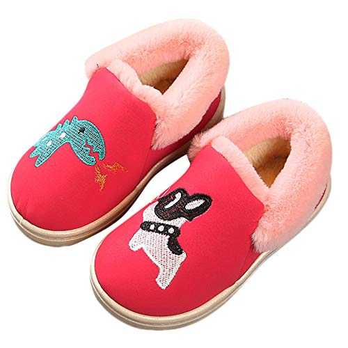 Cinnamou Baby Boots,1Pair Kids Baby Infant Girls Boys Cartoon Animal Embroidery Plus Fluff Boots Winter Warm Snow Toddler Booties Shoes
