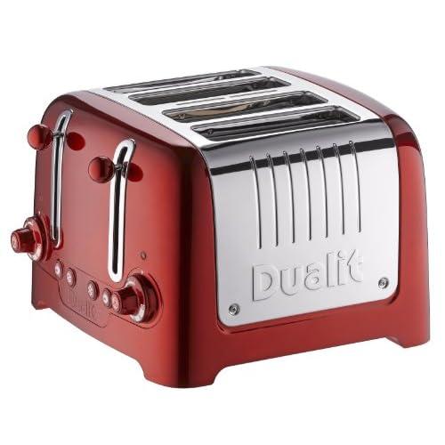 51p58Sg2wbL. SS500  - Dualit 4 Slot Lite Metallic Toaster, Red