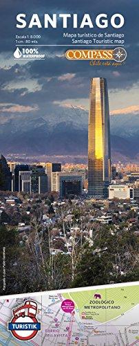Santiago de Chile Stadtplan 1:8.000 - wetterfeste Landkarte mit touristischen Informationen, Liniennetz und wichtige Adressen