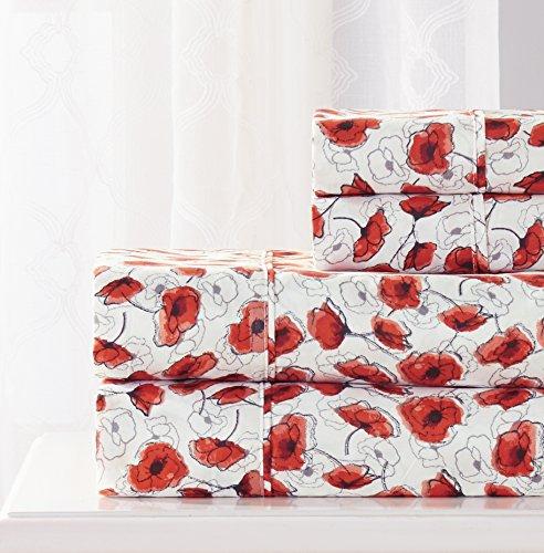 RT Designers Collection Poppy Bedrucktes Bettwäsche-Set Queen