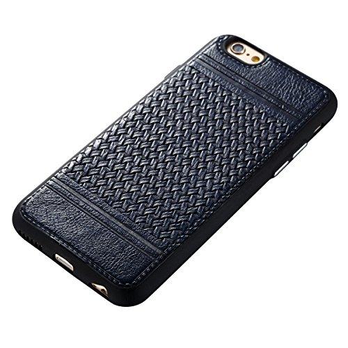 Étui en gel doux iPhone 6s, Coque iPhone 6s, Lifetrut Ultra Mince Doux [Motif en cuir] Housse en Caoutchouc TPU pour iPhone 6S [01] E201