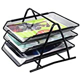 Rete metallica Office Document Letter nero Paper Storage vassoi porta documenti A43ripiani GN imprese