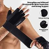 BOILDEG Fitness Handschuhe Trainingshandschuhe,für Bodybuilding Crossfit,Damen&Herren (M)