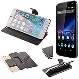 K-S-Trade Schutz Hülle für Phicomm Energy 3+ Schutzhülle Flip Cover Handy Wallet Case Slim Handyhülle bookstyle schwarz