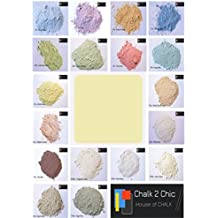 # CP5 – Polvo de 2 ml Chic/312 g Tiza (lemonique Amarillo Pintura hace hasta 2 L de lemonique Amarillo Shabby Chic Eco tiza Muebles Pintura