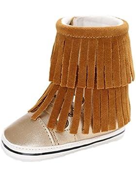 Huhu833 Baby Quasten Weiche Sohle Schneeschuhe Weiche Krippe Schuhe Kleinkind Stiefel