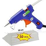 TedGem Heißklebepistole Klebepistole mit 50 Stücke