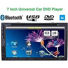 "KKmoon 7"" Reproductor Mulimedia 2 Din DVD/USB/SD Pantalla HD TFT Dise?o UI Bluetooth Radio Entertenimiento Entrada Aux Multilenguaje para Coche Universal"