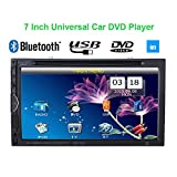 KKmoon 7inch 2 Din autoradios universel DVD/USB/SD lecteur HD belle interface utilisateur multimédia Bluetooth Radio