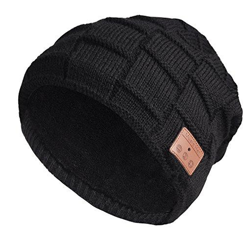 GiftsClub Bluetooth Beanie Wintermütze Musik Mütze Unisex Dehnbare Strickmütze Headset mit Stereo Mikrofon Freisprechfunktion für Outdoor Sport (Sommer Stricken Hut)