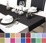 Roban Fashion Chemin de Table Nappe 40 cm de Large en 26 Couleurs, Noir, 40x200 cm
