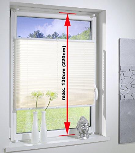 DecoProfi PLISSEE melonengelb, verspannt, Breite 110cm x 130cm (max. Gesamthöhe Fensterflügel), mit Klemmträger / Klemmfix / ohne Bohren - 4