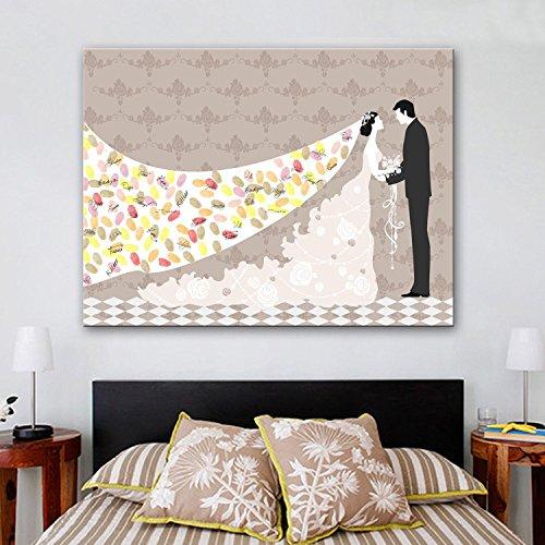 Impronta personalizzata pittura tela stampe - la sposa e la scopa (include 12 colori di inchiostro) , blank ,