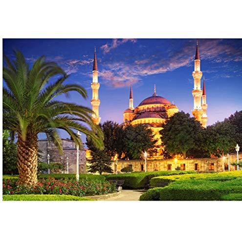 Lovefyl Islam Muslim Moschee Religion Diamant Malerei Kreuzstich Platz 5d Voll Strass Klebt Diamant Stickerei Mosaik Home Decor40x55 cm