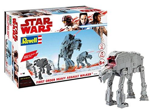 Revell Build & Play - Star Wars First Order Heavy Assault Walker - 06761, Maßstab 1:164, originalgetreue Nachbildung mit beweglichen Teilen, mit Light&Sound Effekten, robust zum Spielen - Wars-at-spielzeug Star
