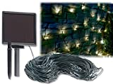 Lunartec LED Netz: Solar-LED-Lichternetz, 144 LEDs, weiß, 2 x 2 m, IP44 (LED Lichtnetze)