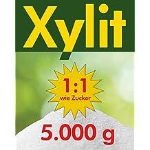 Xylit Birkenzucker 5x1kg Dose feine Körnung