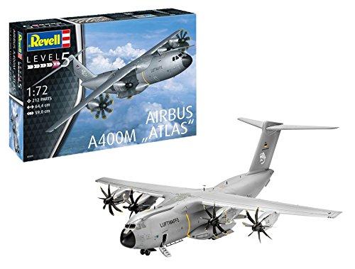 ad54e17ba7707 Revell- Airbus A400M Atlas, Kit de Modelo, Escala 1: 72 (3929) (03929),  Scale