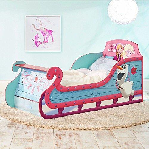 Disney Frozen Pferdeschlitten-Kleinkind-Bett mit Underbed Storage Plus Deluxe-Foam-Matratze