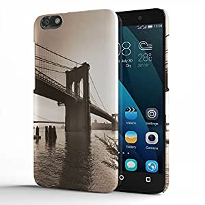 Koveru Designer Printed Protective Snap-On Durable Plastic Back Shell Case Cover for Huawei Honor 4X - Over Footbridge