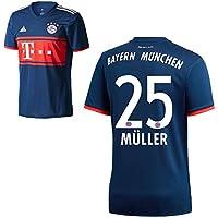 Adidas FC Bayern München FCB Away Trikot 2017 2018 Herren Kinder mit Spieler Name navy