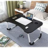LuvBells® Smart Multi-Purpose Laptop Table with Dock Stand and Coffee Cup Holder/Study Table/Bed Table/Foldable and Portable/