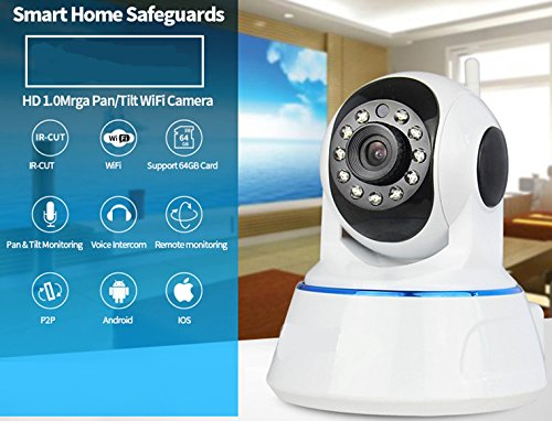 Woww Baby CCTV HD1.0MP , Motion Detection , Plug n Play wireless night vision IP WIFI smart net camera