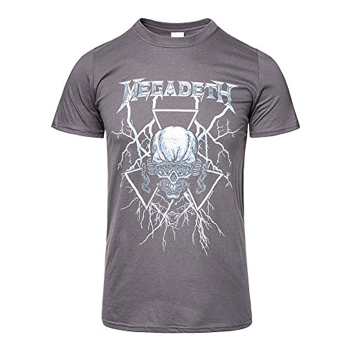 Tee Shack Megadeth Lightning Vic Dave Mustaine Thrash Oficial...
