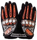 #5: EASY4BUY GLOVES FOR Ktm Gloves Black With Orange _X-Large (Black_X-Large)