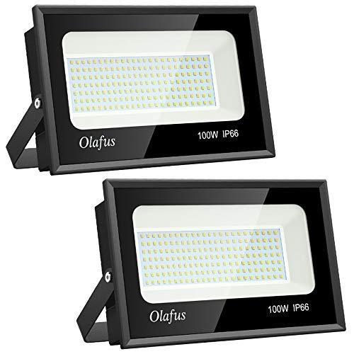 Olafus 2 Paquetes 100W Focos LED Exterior