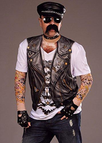 Fotorealistische Biker-Shirt für Herren 80er Jahre Rocker XL