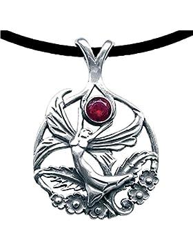 Schmetterlingselfe Anhänger Amulett Talisman Silber mit Lederhalsband Schmucksäckchen und Karte - Wünsche erfüllen...
