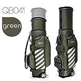 PGM Unisex, neu mit ausziehbarem Golf Golfschläger-Tragetasche mit Rollen-Reisetasche mit Tasche, grün