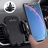 Avolare Handyhalterung für Auto - Handyhalterung Lüftung Handyhalter fürs Auto Kratzschutz Universale Handy KFZ Halterungen für iPhone Samsung Huawei Xiaomi oder GPS-Geräte usw (PU Schwarz)