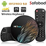 Sofobod HK1 MAX TV Box Android 9.0 TV Box 2GB RAM 16GB ROM 2.4G/5G Dual WiFi H.265 Decoding HD 4K Set Top Box +i8 Mini Wireless Keyboard