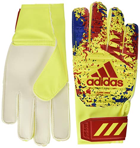 adidas Kinder Classic Training Torwarthandschuhe, Solar Yellow/Active Red/Football Blue 7