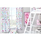"""Hello There Design Children's Bedroom Curtains 66""""x 54"""" with Tie Backs"""