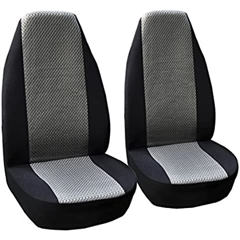 Coppia Coprisedile Universale traspirante Sandwich panno protezione per sedile anteriore copre